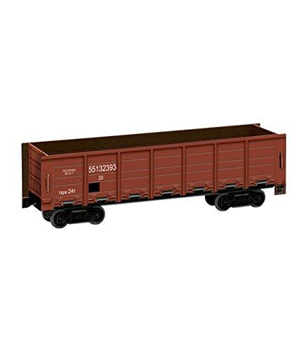 Keranova 276-02 Clever Paper Railway Collection 20 Piece Gondola Car 3D Puzzle, 16.5 x 5 x 4 cm, 1/87 Scale, Brown, Multi Color