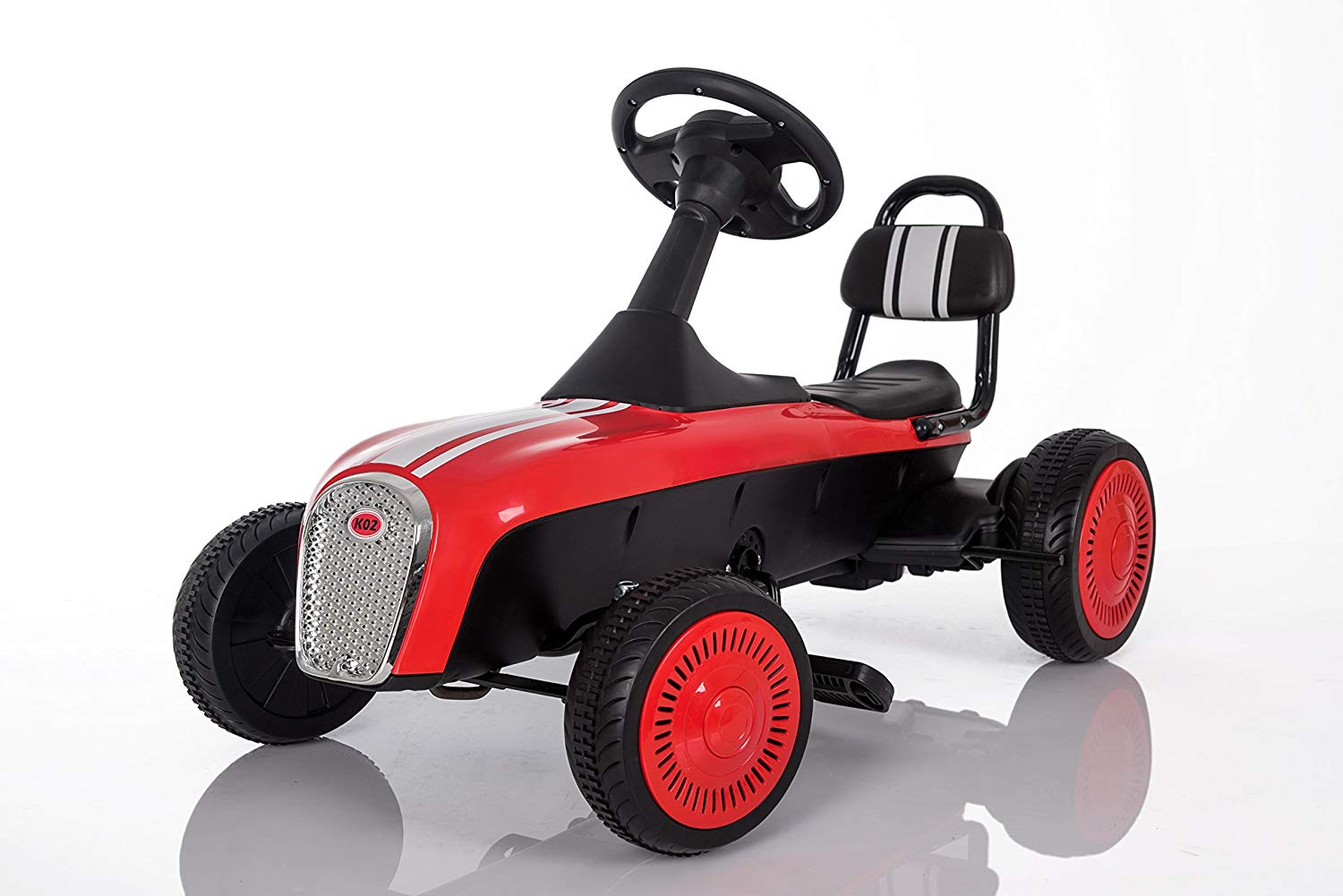 3-8 Year Old Kids Classic Outdoor Go Kart with Foot Pedal and Brake Lever (Model: K02) RED