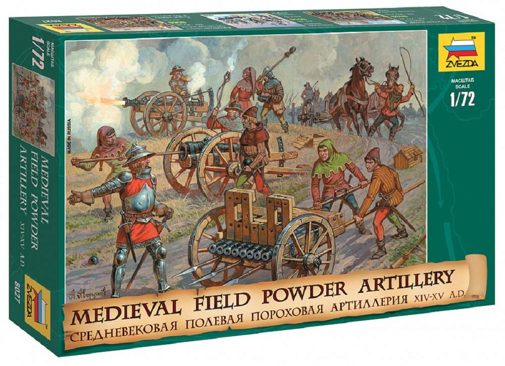 1/72 Medieval Field Powder Artillery