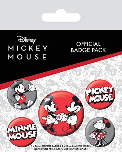Mickey Mouse Badge Pack, Multi-Colour, 10 x 12.5cm
