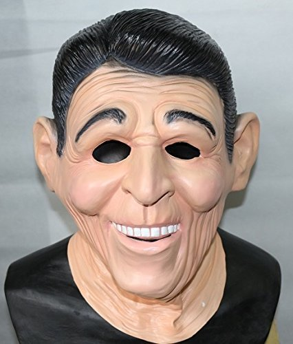 The Rubber Plantation TM 619219292672 Ronald Reagan Ex President Latex Mask American Fancy Dress Full Head Costume Accessory, Unisex-Adult, One Size