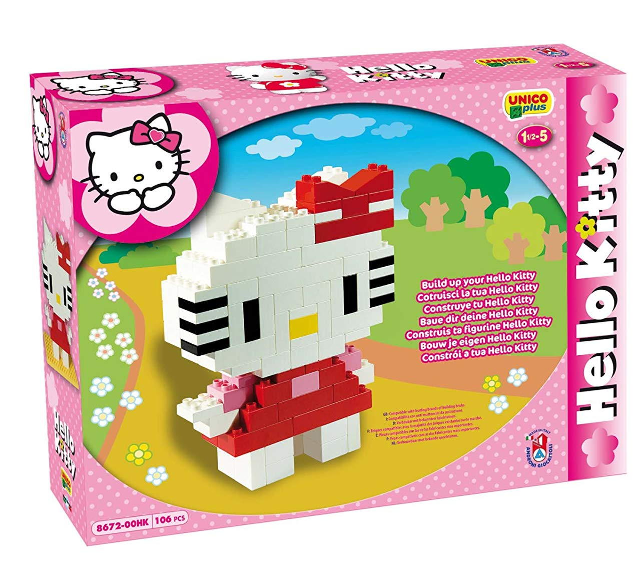Unico Construction Single Hello kitty-personaggio 106pz 8672