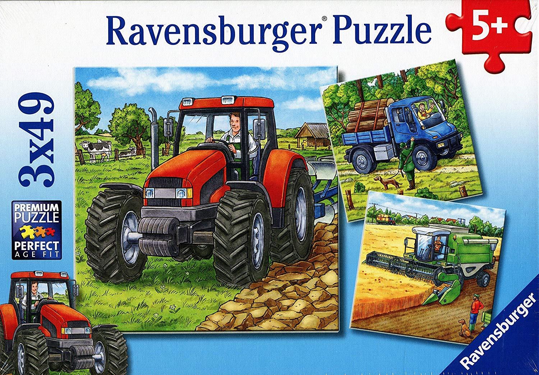3 Farm Machinery Puzzles (49 pieces each)