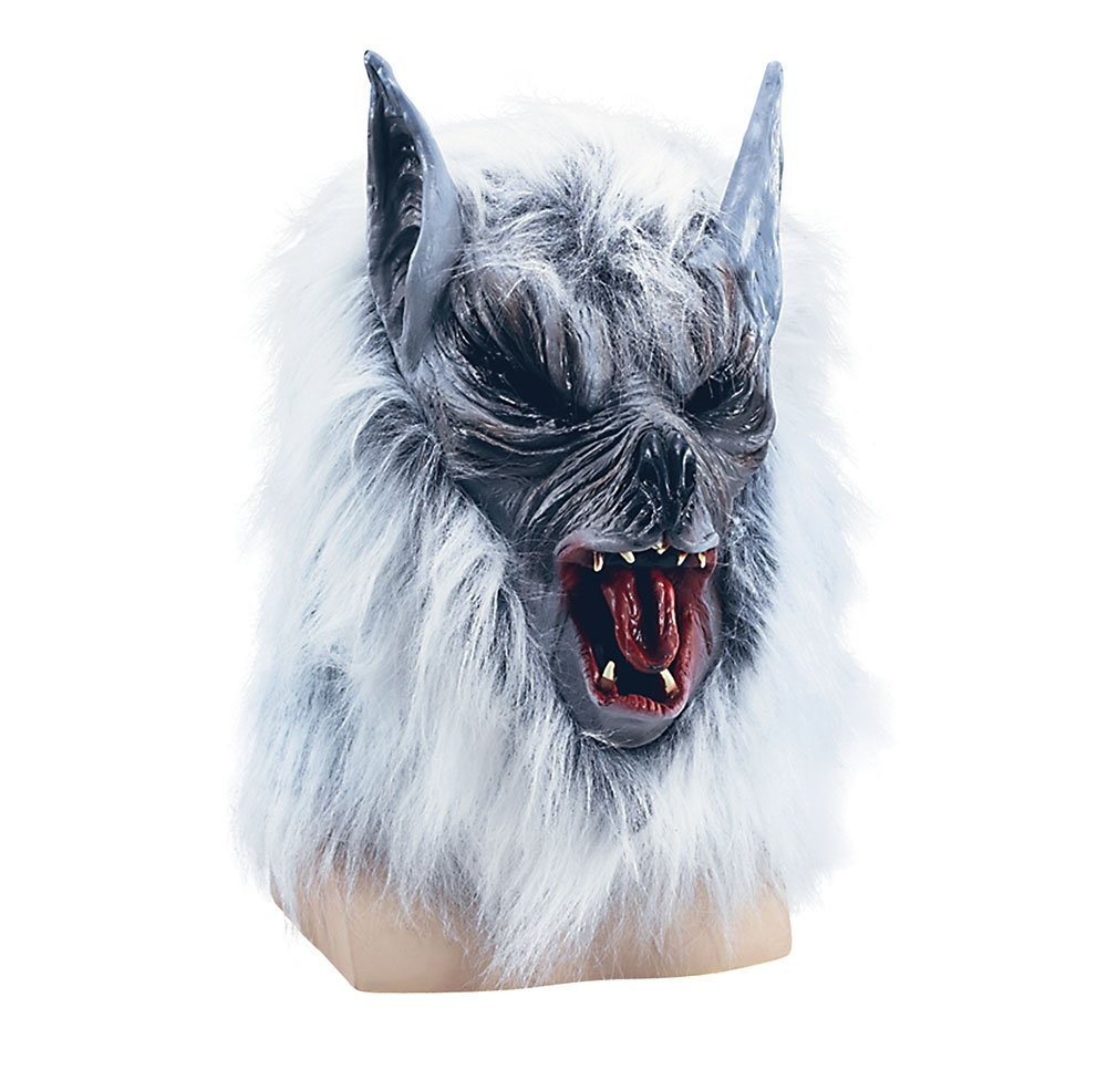 Bristol Novelty BM183 Killer Wolf Budget Mask, Grey, One Size