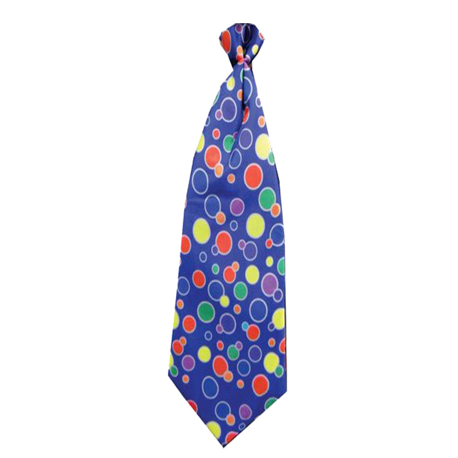 Dress Up America Blue Polka Dotted Clown Necktie