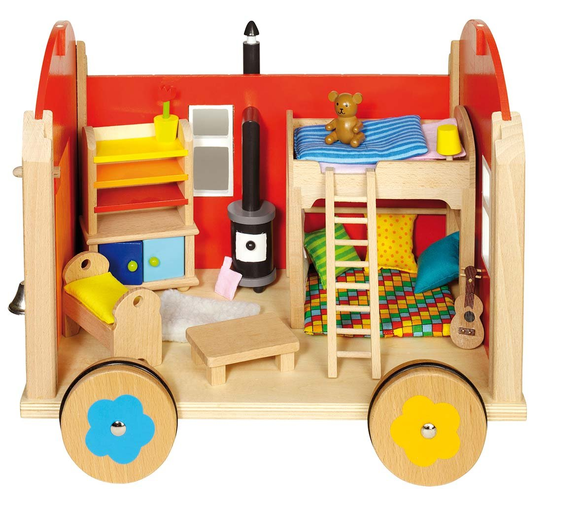 GoKi Doll's Construction Site Trailer with Accessoires