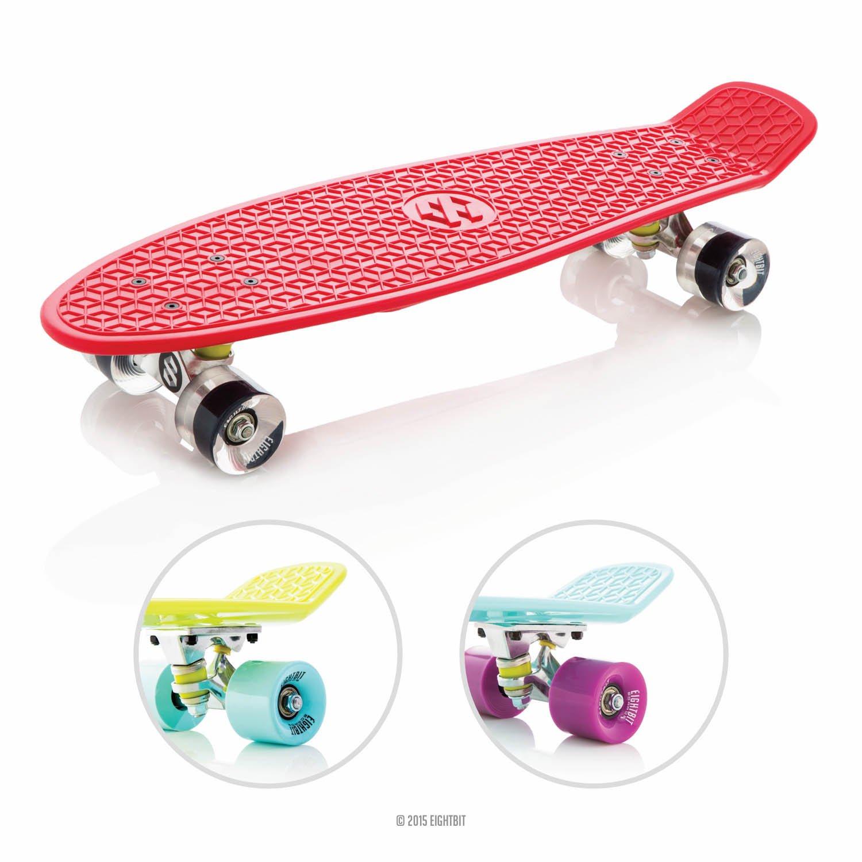 27″ EightBit® Banana Skate Board – Retro Skateboard – Fury / Ice