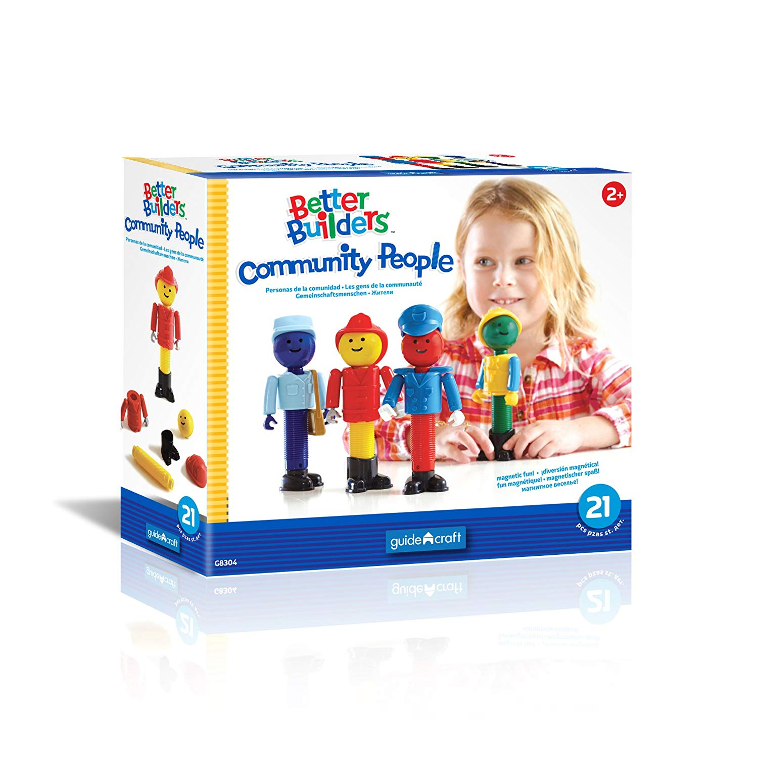 GuideCraft Better Builders Community People Building Set (Multi-Colour)