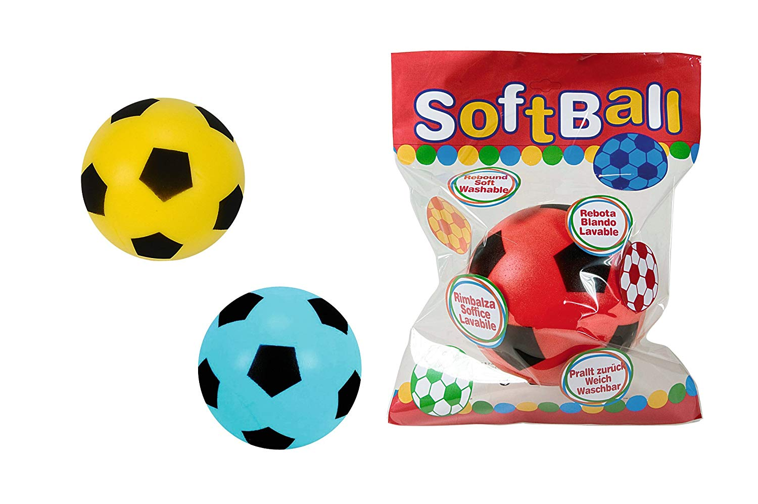 20cm Foam Football, Assorted Colours, One Supplied