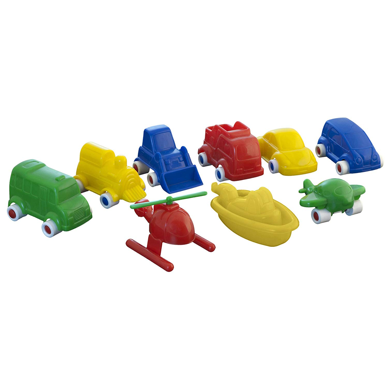 Miniland 50.27470 Minimobil 9 Pieces, Multi-Color