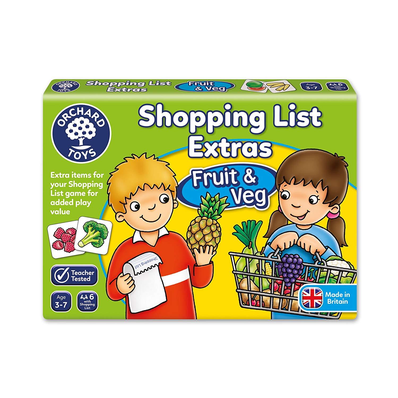 Orchard Toys Shopping List Extras Pack – Fruit & Veg Game