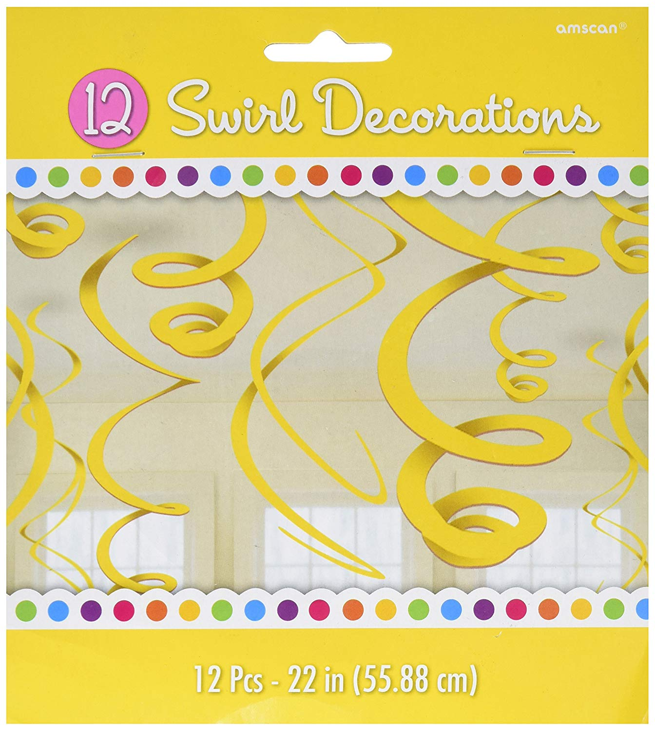 amscan 67055-09-55 55 cm Plastic Swirls Decorations