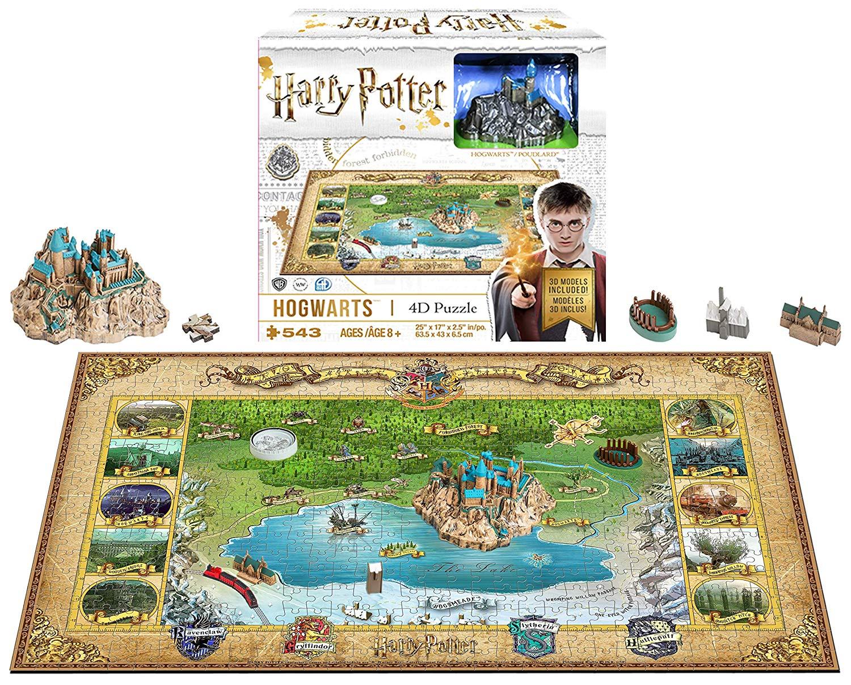 4D Cityscape Harry Potter Mini Puzzle Hogwarts Puzzle (543 Pieces)
