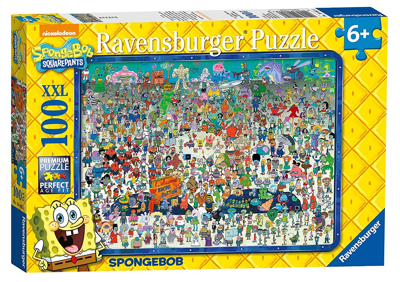 Ravensburger Spongebob Squarepants XXL 100pc Jigsaw Puzzle ...