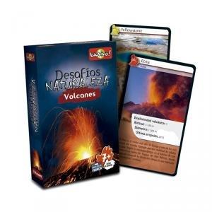 Bioviva 281126 Nature Challenges Planet-Volcanoes Card Game, Language-Spanish, Multi-Color