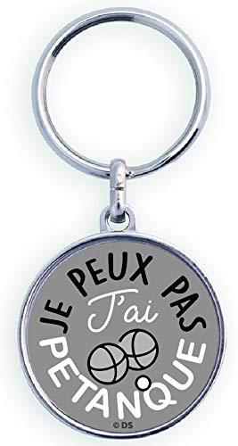 """Cadox """"Je Peux Pas J'ai Petanque Key Ring [French Language]"""