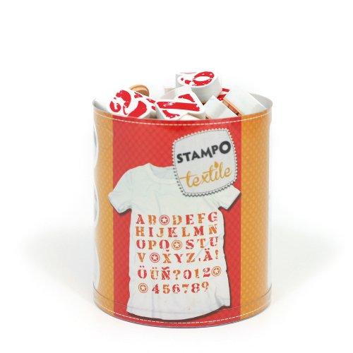 Aladine–05256–Stamp Print–Stampo Fabric Alphabet Design