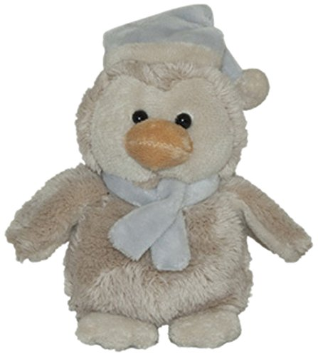 ENESCO Peluches Kalidou Plush Musical Penguin with Blue Hat with Bag, 12cm, Polyester, beige, 10x 10x 12cm