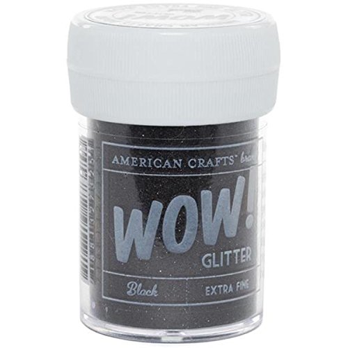 American Crafts Black-Glitter Extra Fine, Acrylic, Multicolour, 3.04×3.3×5.84 cm