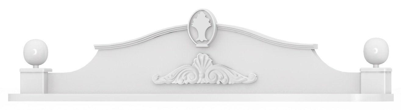 Angel Baby Shelf with UV Printed, 91 x 22 x 23 cm, White
