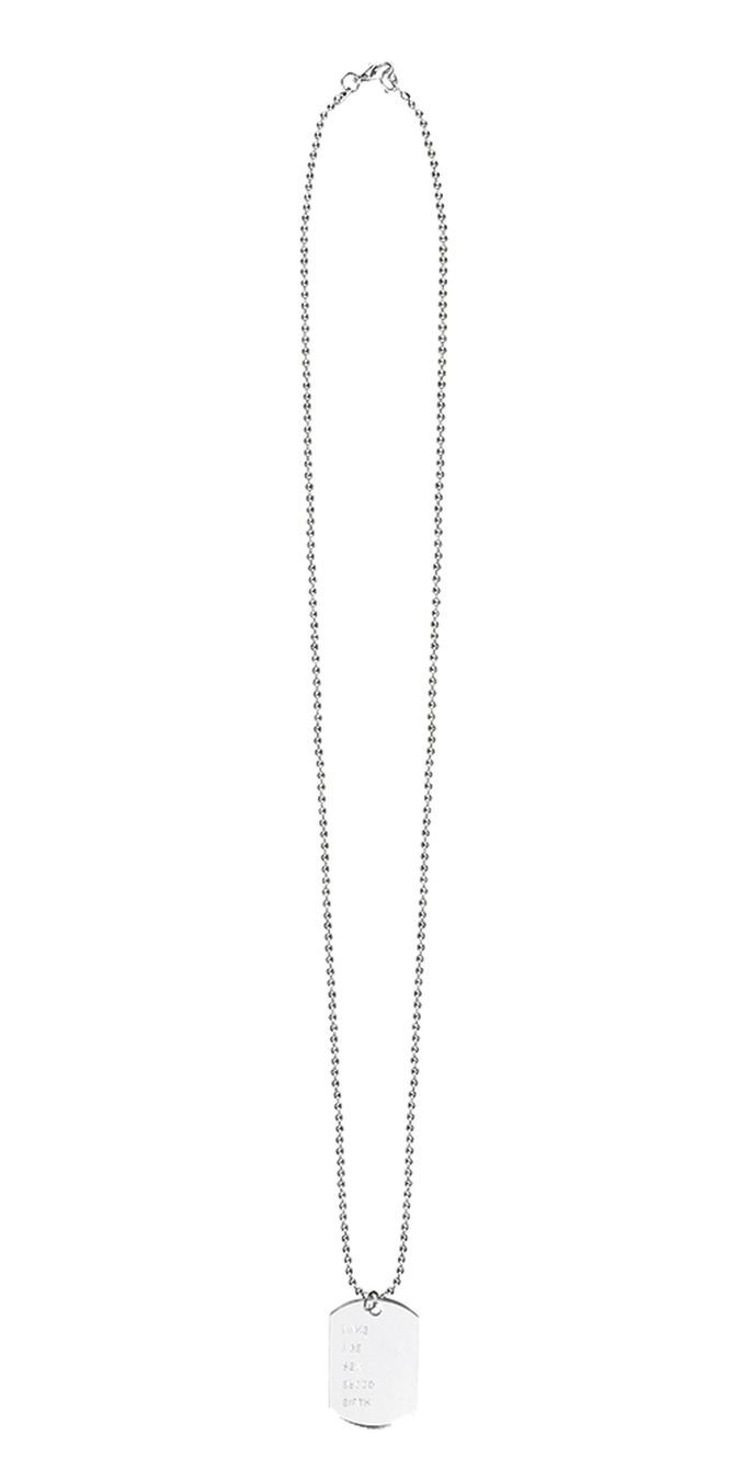 Boland 44318Necklace Name Tag Costume, One Size