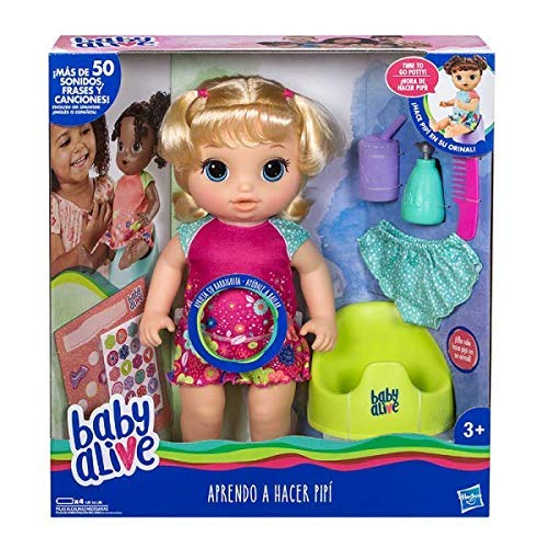 Baby Alive – Aprendo to do Pipi Blonde, Multicoloured (Hasbro e0609pt0)