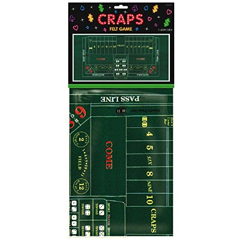 amscan Casino Felt Game Craps Table Covers