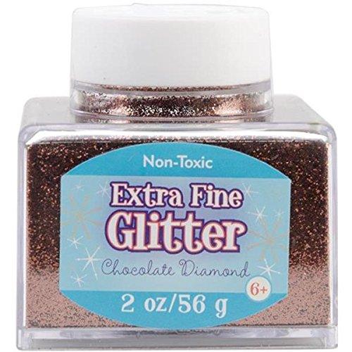 Advantus Chocolate-Fine Glitter 2 Ounce, Acrylic, Multicolour, 6.35×6.35×6.35 cm