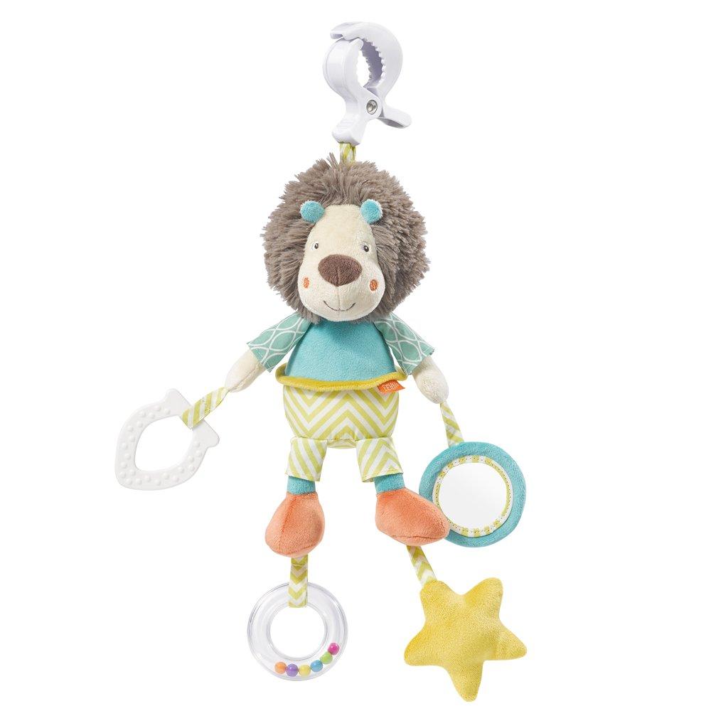 066043Fehn Activity Toy Lion with Clutch, Funky Friends, Multi-Colour