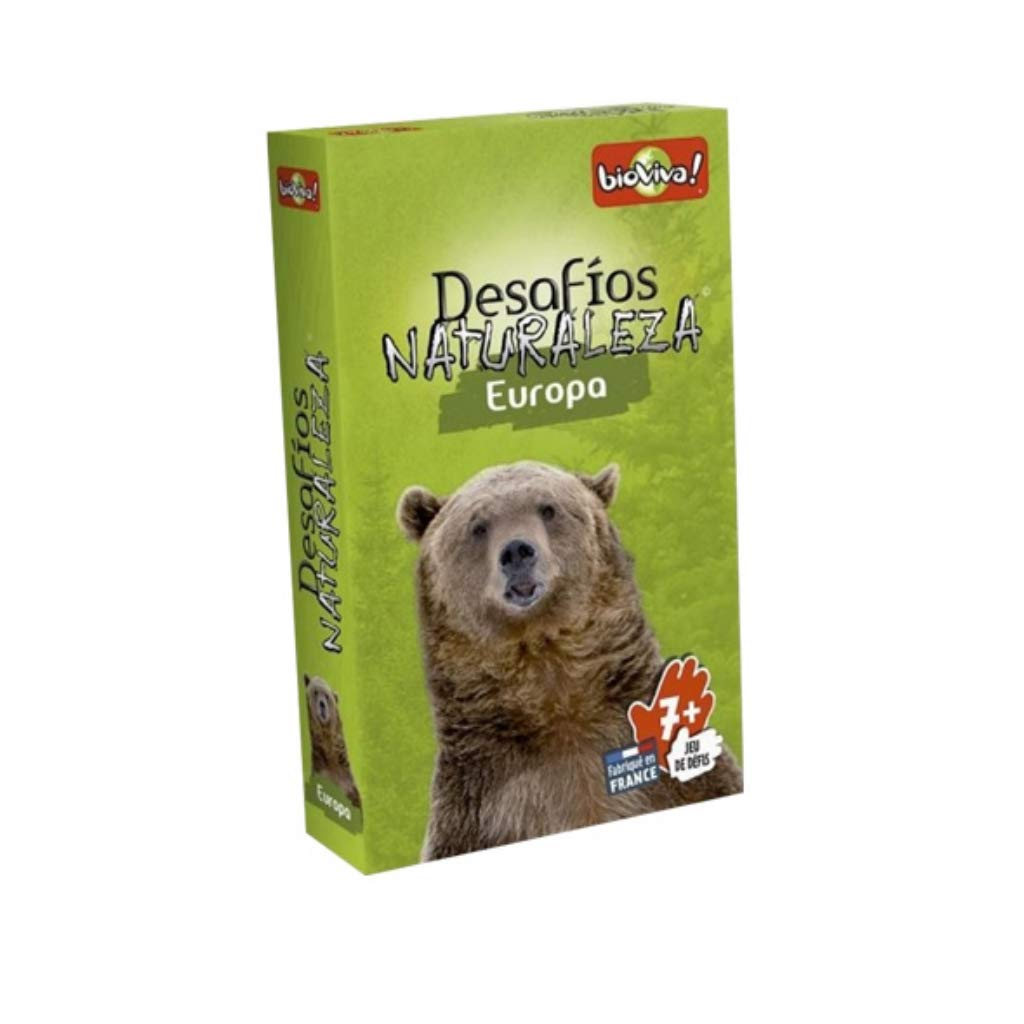 Bioviva 281119 Nature Challenges Animals-Europa Card Game, Multi-Color