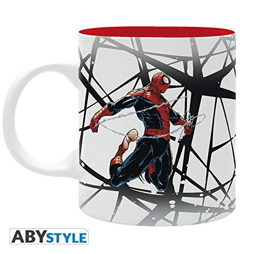 ABYstyle Abysse Corp_ABYMUG331 Marvel-Mug-320 Ml-Spdm Design-Subli-with Box X2, Unisex Children, Multi Colour, 320 ml