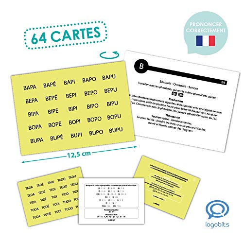Akros (AKRP1) 20023FR Akros Logo-Bits Cards with All The Consonant Clusters Learning Games, Multi-Colour