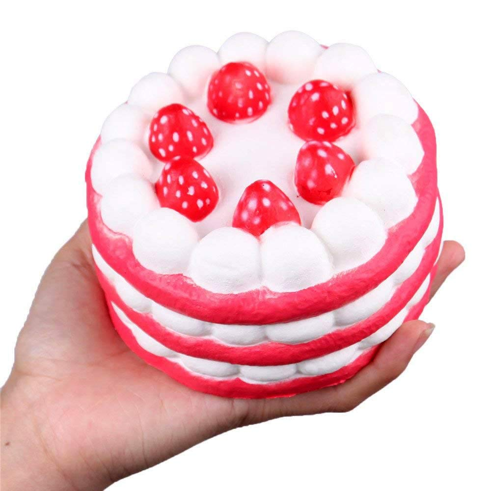 Anboor T4964-Red Squishies Strawberry Cake Jumbo Slow Rising Kawaii