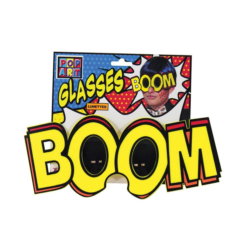 Bristol Novelty 77174 Forum Novelties Pop Art Jumbo Boom Glasses, Yellow, One Size
