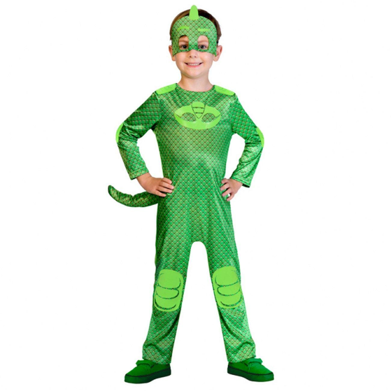 Amscan 9902956 -Gekko Fancy Dress Pjmasks, Green