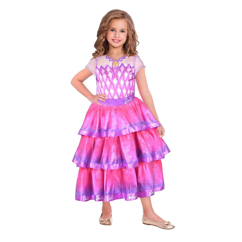 Amscan 9904430 Children's Costume Barbie Gemstone Ball Gown Pink 104 cm