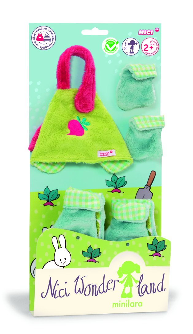 """Nici MiniLara"" NICI Wonderland 30cm Apron Boots and Gloves Plush for Doll"