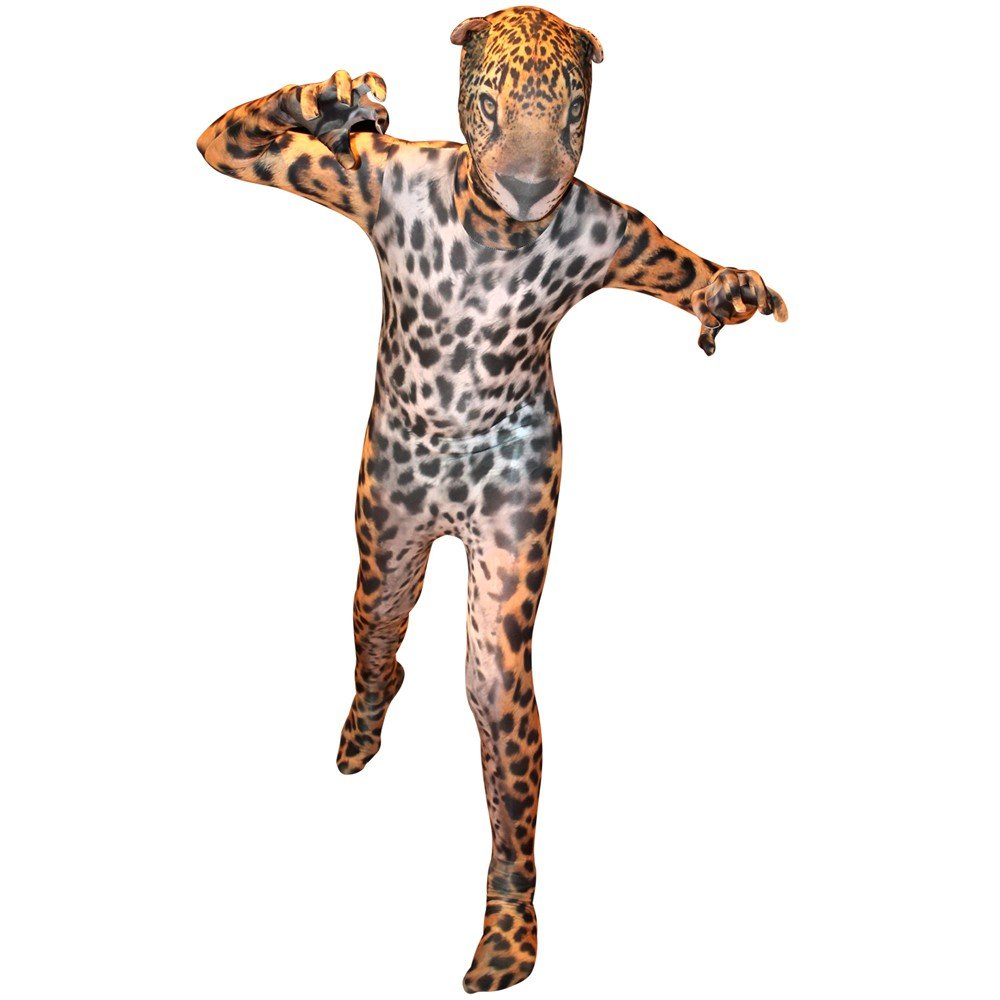 2nd Skin Adult Morphsuit Animal Planet Jungle Jaguar Morphsuit Skinz Fancy Dress
