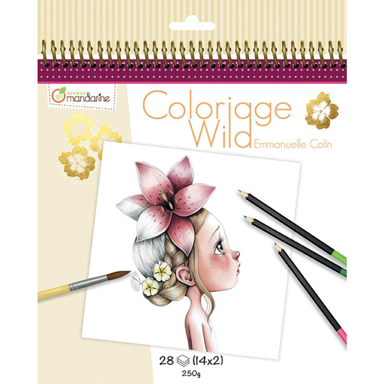 Avenue Mandarine Collectors Colouring Book (14 Designs)
