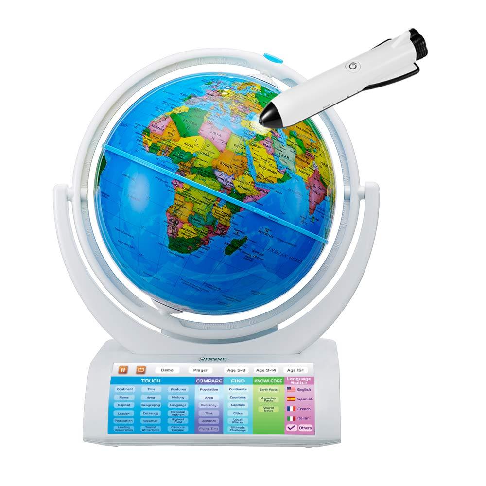 Oregon Scientific SG338RX Smartglobe World Map with Smart Pen