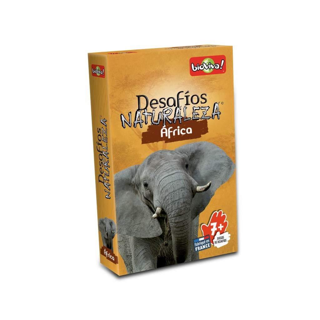 Bioviva 281072 Nature Challenges Animals-Africa Card Game, Language-Spanish, Multi-Color
