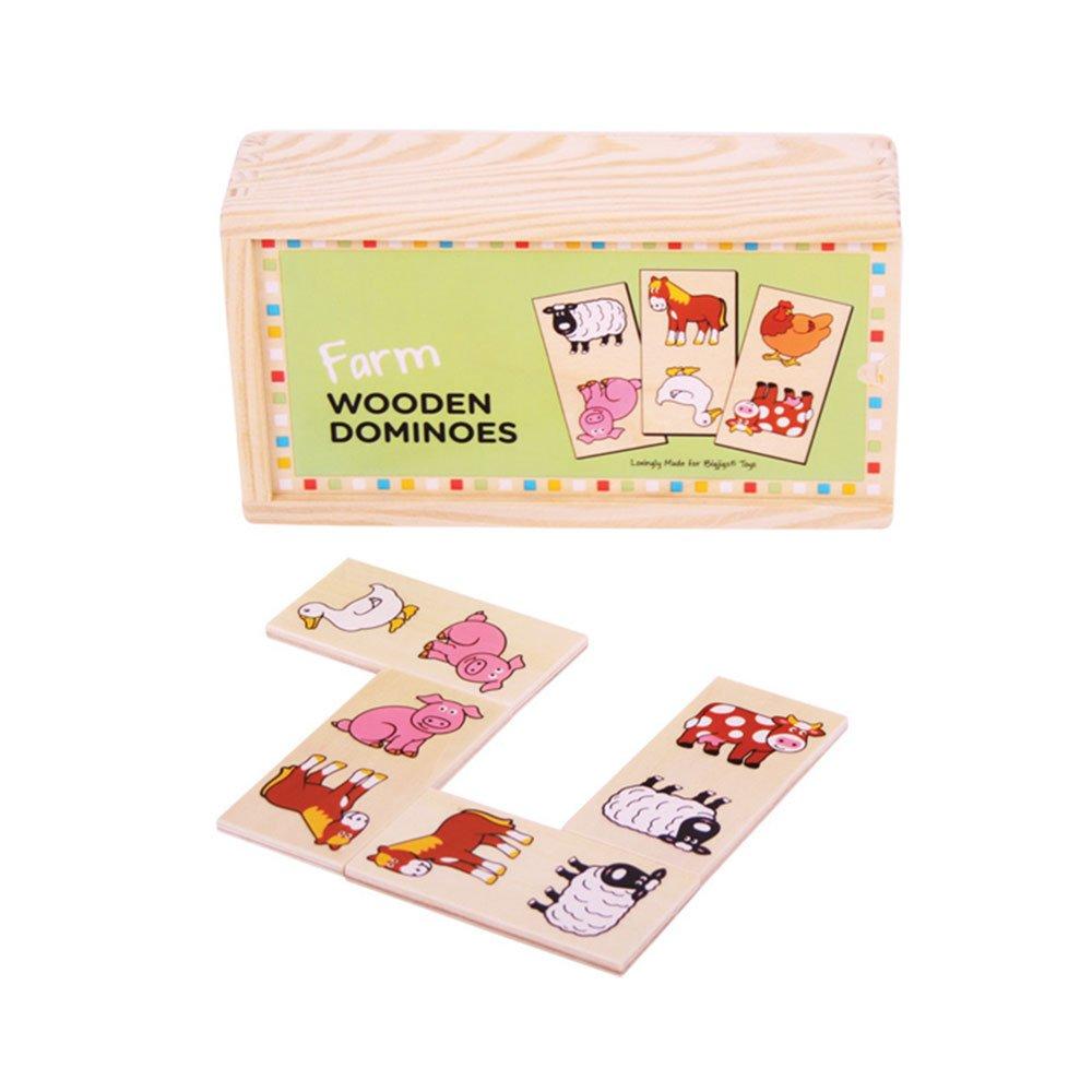 Bigjigs Toys BJ736 Wooden Farm Themed Dominoes