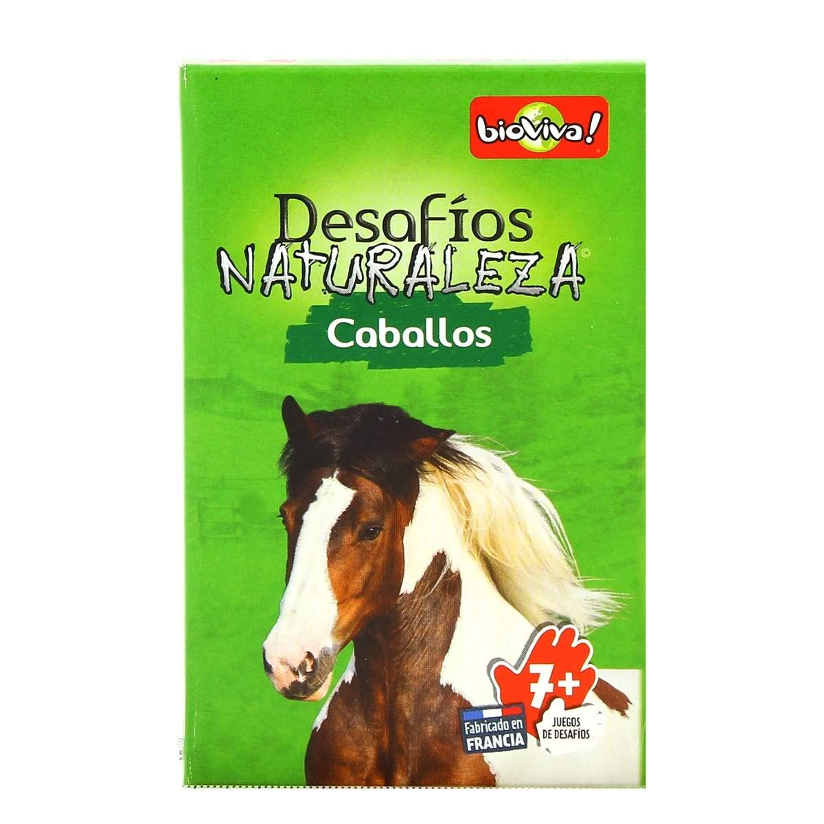 Bioviva 660099 Nature Challenges Animals-Horses Card Game, Language-Spanish, Multi-Color