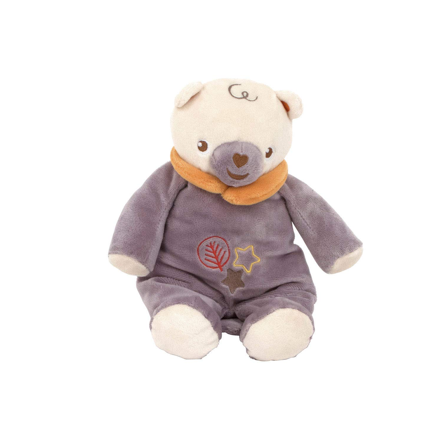 Arditex FP10104 Seated Bear with Rattle Plush Toy, Multi-Colour, 28 cm