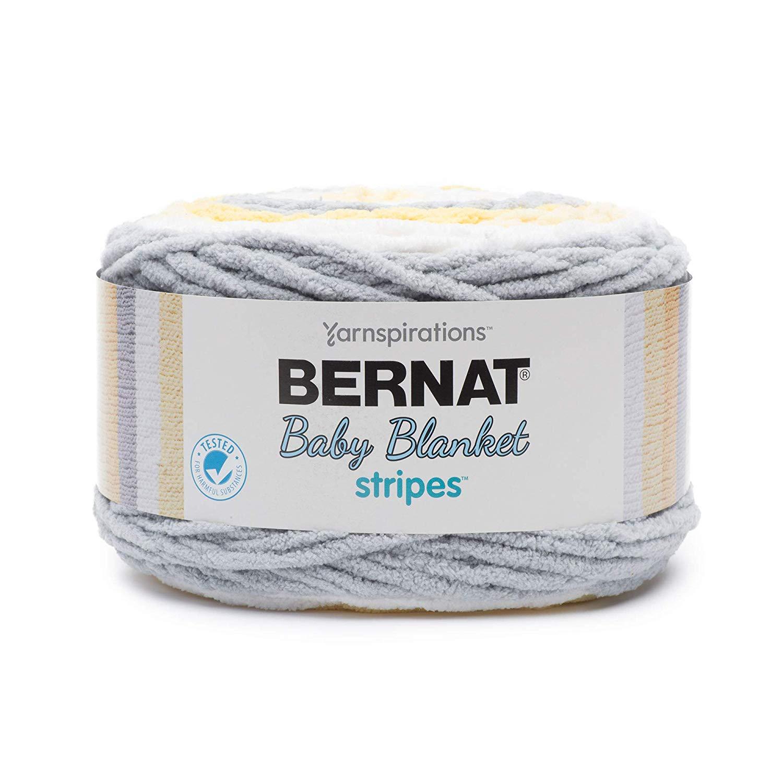 Bernat Baby Blanket Stripes – 300g- Sunshine