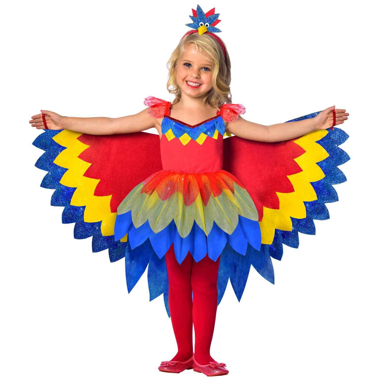 Amscan 9903519 Child Costume Parrot Fairy Girl Multicoloured 128 cm
