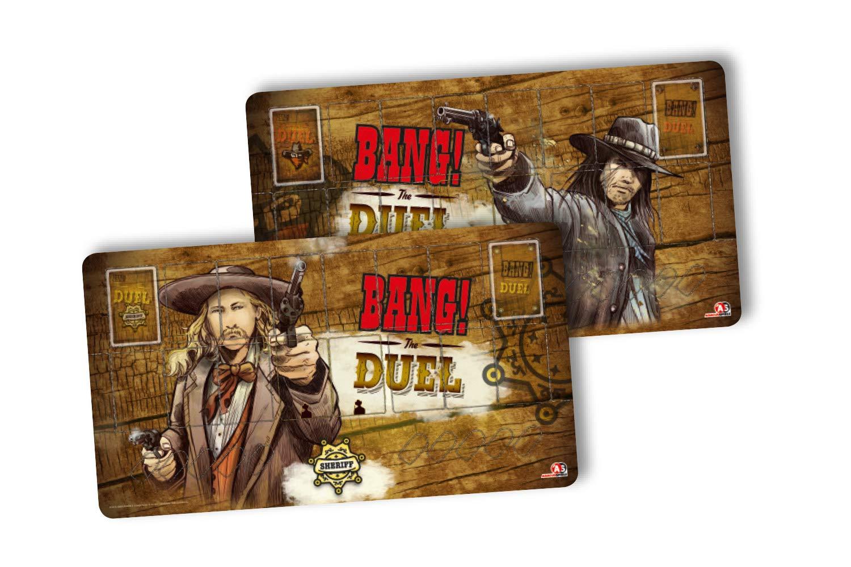 Abacus ABA38162–Bang. Bang. the duel Player Mats Card Game Set–Limited Edition