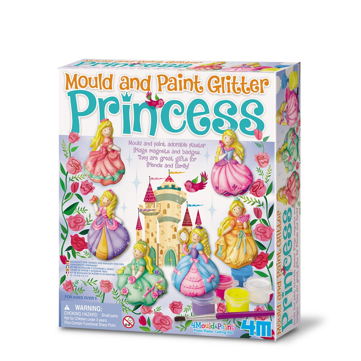 """4M """"2019"""" Glitter Princess Mould and Paint – Multi-Coloured"""