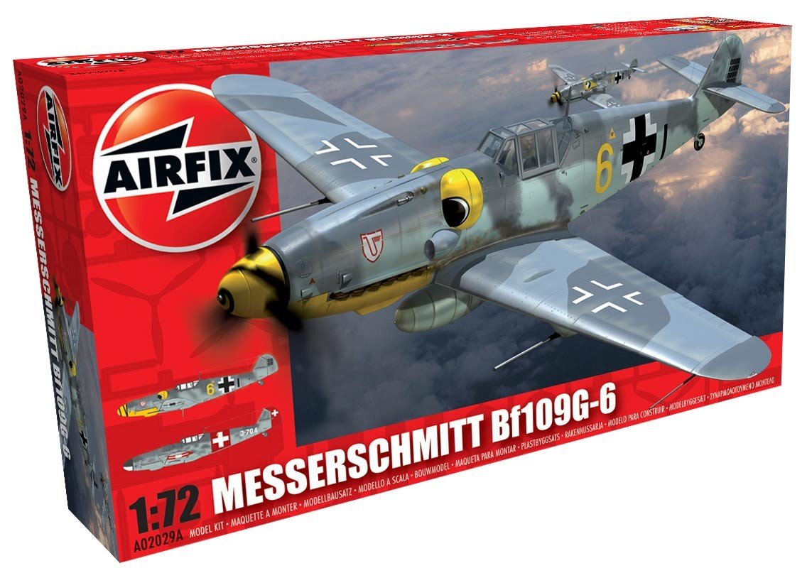 Airfix A02029A 1:72 Scale Messerschmitt BF109G-6 Model Kit
