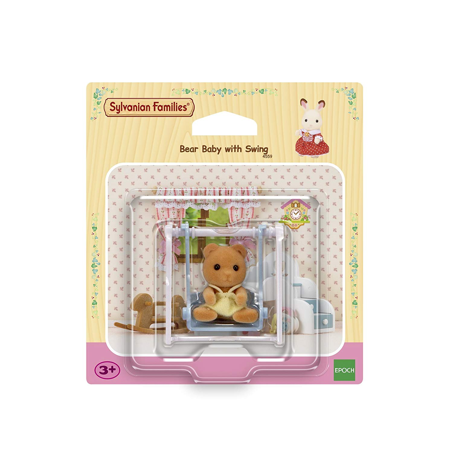 Sylvanian Families 4559 Bear Baby with Swing, Multicolor
